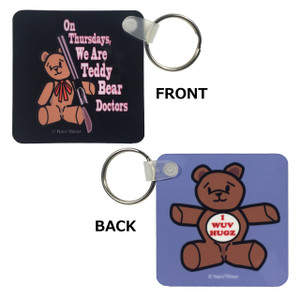 Supernatural Double-Sided Square Keychain Teddy Bears