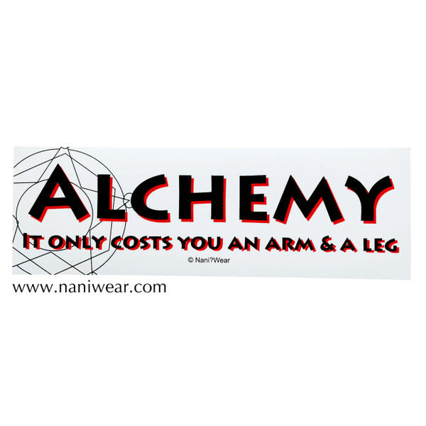 Fullmetal Alchemist Inspired Bumper Sticker: Alchemy Arm Leg