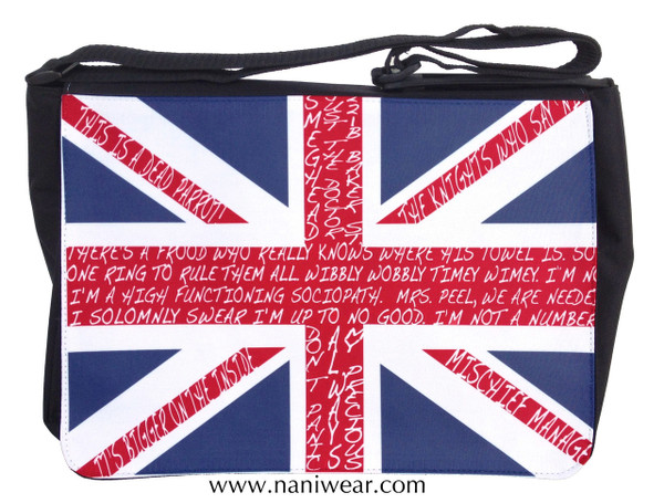 British Fandom Large Messenger/Laptop Bag: Union Jack