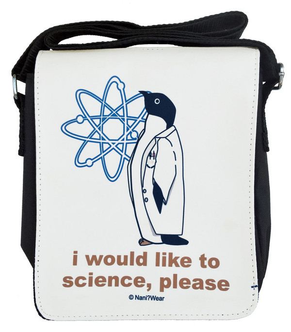Science Penguin Small Messenger Bag: I Would Like to Science