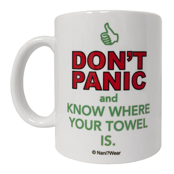 Hitchhikers Guide to the Galaxy Inspired Double-Sided Geek Mug
