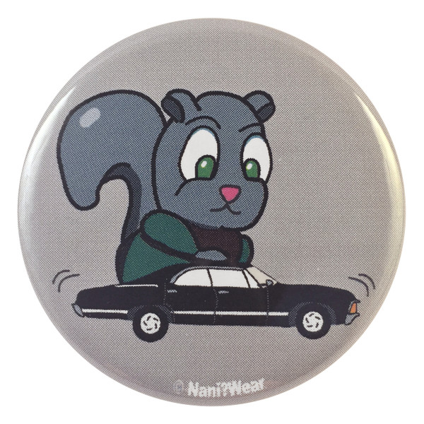 Supernatural Dean Winchester Squirrel with Impala Button