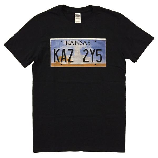 Supernatural Geek T-Shirt Impala Kansas License Plate