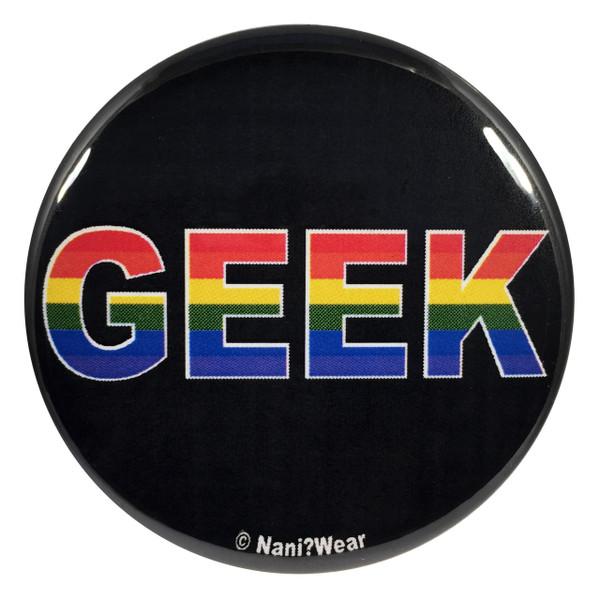 Gay Pride Geek 2.25 Inch Button