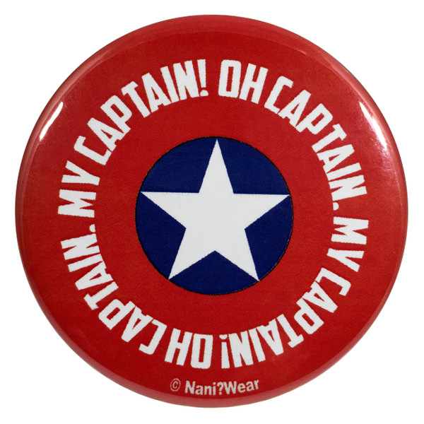 Captain America 2.25 Inch Geek Button Oh Captain My Captain