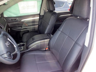 Highlander Clazzio Seat Covers All Black Front Seats