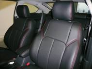 Black / Black / Red Clazzio Leather Seat Cover