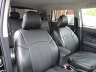 All Black Leather Scion xB Clazzio Seat Cover