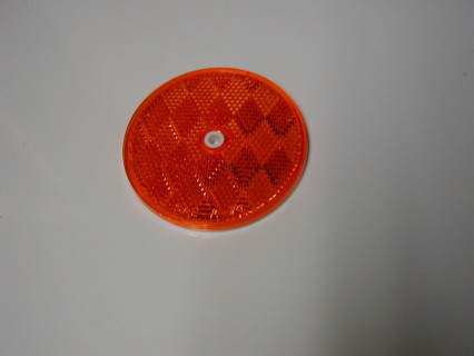 Single Amber Side marker lens, NEW reproduction and with all the DOT numbers on them