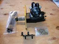 Power Steering kit for STOCK height Dodge D100's and D'200's. The Kit has the box ready to bolt in, NEW PITTMAN ARM that connects directly to your existing drag link along with an adapter to move the steering column, IF NEEDED. All parts pictured.