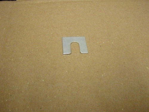 E3155 shims are 1/16 inches thick with a 3/8 inch slot. 1 1/4 X 1 1/8 Zinc  SOLD AS EACH