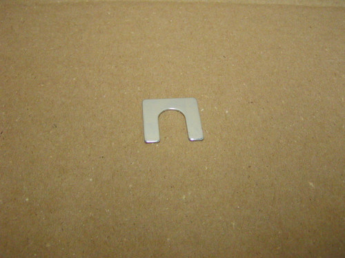 E5076 is 1/16 inches thick with 1/2 inch slot. 1 1/8 X 1 1/8  Sold as Each