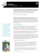 Reflections on Cultural Change