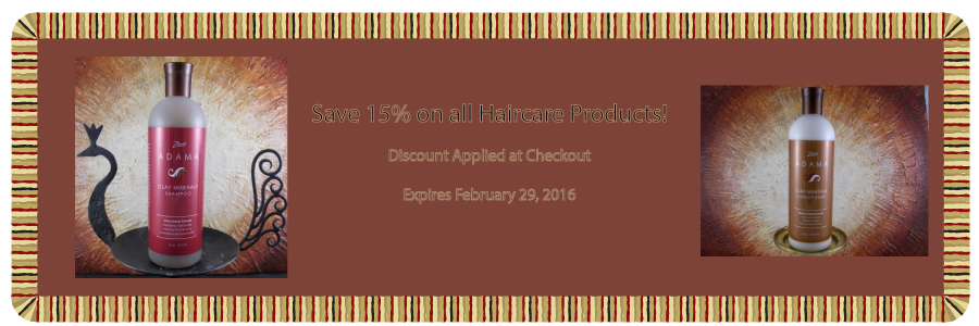15% Off Haircare products unil 2-29-16