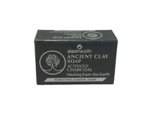 Zion Health Ancient Clay Soap Activated Charcoal 6 oz, 170 g Front