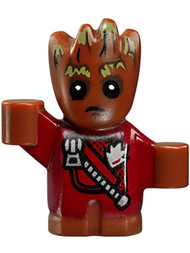 LEGO Super Heroes: Guardians of the Galaxy 2 - Baby Groot w/Red Jacket & Zipper