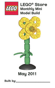 Constructibles® Sunflower Mini Model LEGO® Parts & Instructions Kit