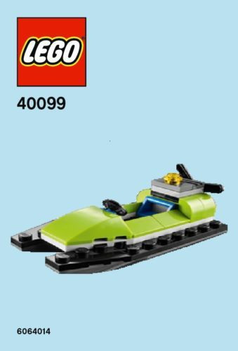 Lego Jet-Ski/Swamp Boat Mini Build Parts & Instructions 40099 ...