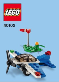 Constructibles® Racing Plane Mini Model LEGO® Parts & Instructions Kit - 40102