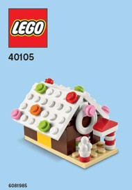 LEGO Gingerbread House Mini Build Parts & Instructions Kit