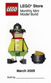 Lego Leprechaun Parts & Instructions Kit March 2009 Monthly Model Mini Build