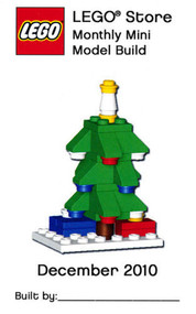 Lego Christmas Tree Parts & Instructions Kit Dec 2010 Monthly Mini Model Build