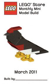 Lego Woodpecker Bird Parts & Instructions Kit Mar 2011 Monthly Mini Model Build