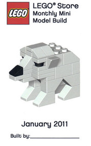 Lego Polar Bear Parts & Instructions January 2011 Monthly Mini Model Build