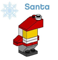 LEGO Christmas Santa Claus Parts & Instructions  Special Mini Model Build