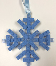 Custom Lego Christmas Holiday Ornament Snowflake NEW