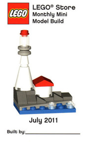 Lego Lighthouse Mini Model Parts & Instructions Kit