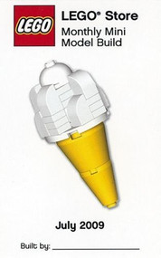 LEGO Ice Cream Cone Mini Build Parts & Instructions Kit