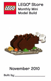Lego Turkey Dinner Parts & Instructions Nov 2010 Monthly Mini Model Build MMMB30