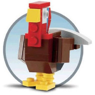 Lego Thanksgiving Turkey Parts & Instructions Nov 2011 Mini Model Build MMMB044