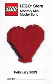 Lego Heart Parts & Instructions Kit  Feb 2009 Monthly Model Mini Build - MMMB003