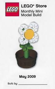 Lego May 2009 Mini Model - White Daisy with Flower Pot - MMMB008