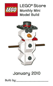 Lego Snowman Parts & Instructions Kit Jan 2010 Monthly Mini Model Build MMMB018