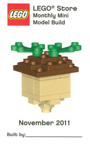 Constructibles® Acorn Mini Model LEGO® Parts & Instructions Kit