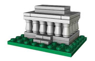 LEGO Lincoln Memorial Micro Build Parts & Instructions - Monuments Roadshow
