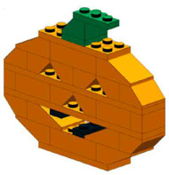 Lego Happy Pumpkin Halloween Decoration Parts & Instructions Kit