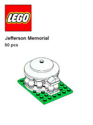 LEGO Jefferson Memorial Mini Build Parts & Instructions - Monuments Roadshow
