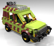 Constructibles® Jurassic Jeep LEGO® Parts & Instructions Kit