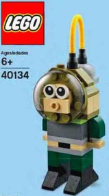 Constructibles® Diver Mini LEGO® Model Parts & Instructions Kit - 40134