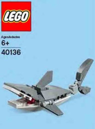 Lego Shark Mini Model Parts & Instructions Kit - 40136