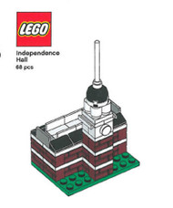 Lego Independence Hall Mini Build Parts & Instructions - Lego Monuments Roadshow