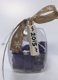 Custom Lego® 2015 Christmas Holiday Ornament - Purple Bricks