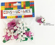 Constructibles Girl Scout SWAPS Kit - 10 LEGO Daisies (Pink) SWAPS