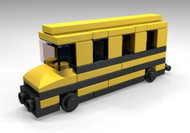 Constructibles® Lego School Bus Mini Model - LEGO® Parts & Instructions Kit