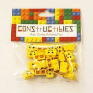 Constructibles® x25 Yellow Smile Face 1x2 Bricks 3004 - LEGO® Bulk Parts