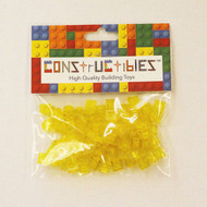 Constructibles® x100 Transparent Yellow 1x1 Plates 3024 - LEGO® Bulk Parts